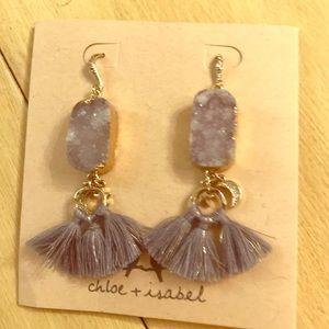 Sun/Moon tassel earrings